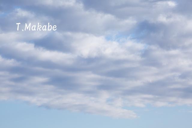 三ッ池公園の青空・白い雲